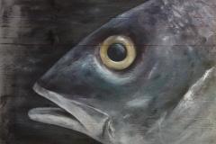 Vis op Steigerhout