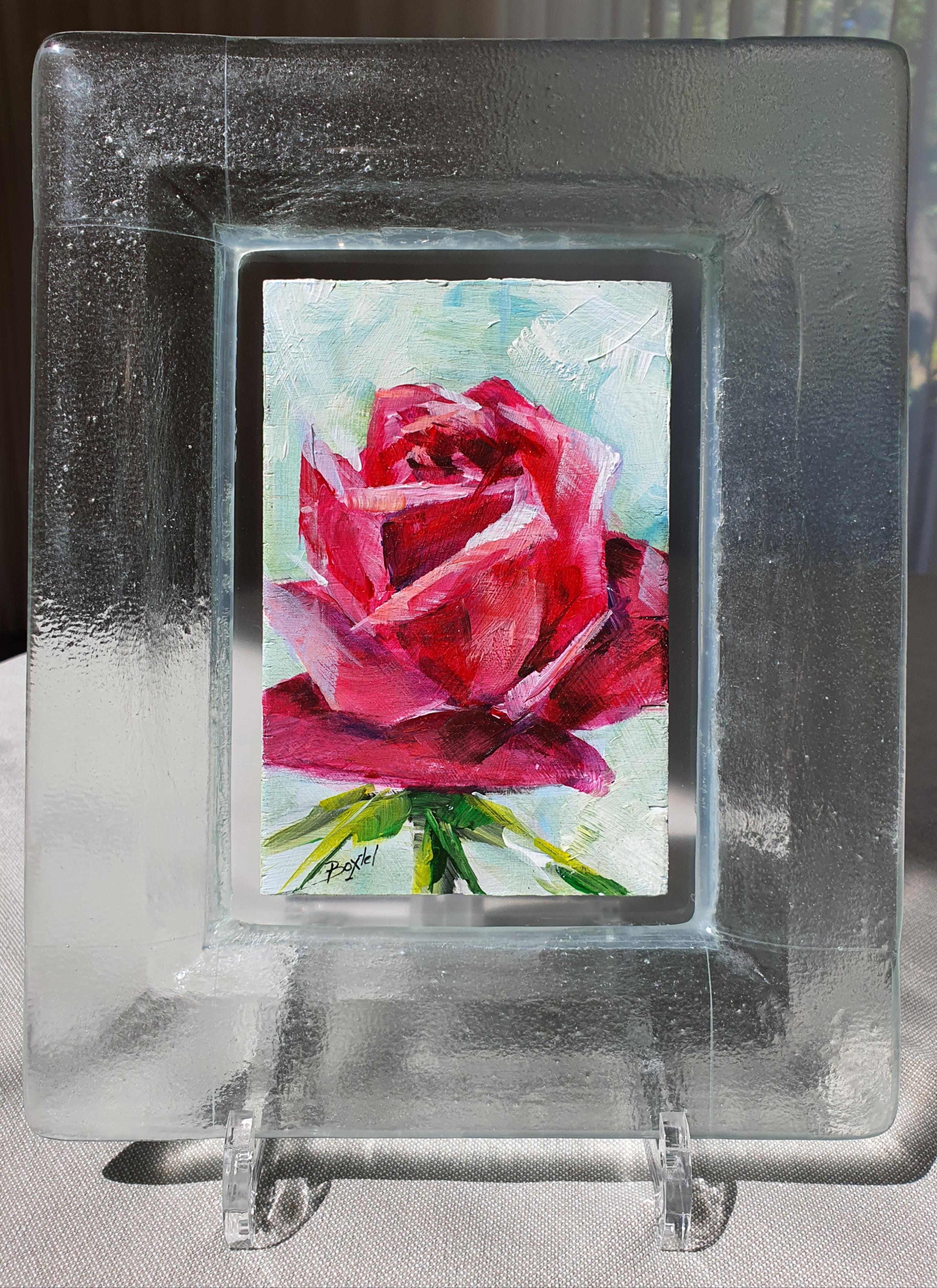 Roos-in-glazen-lijstje-9