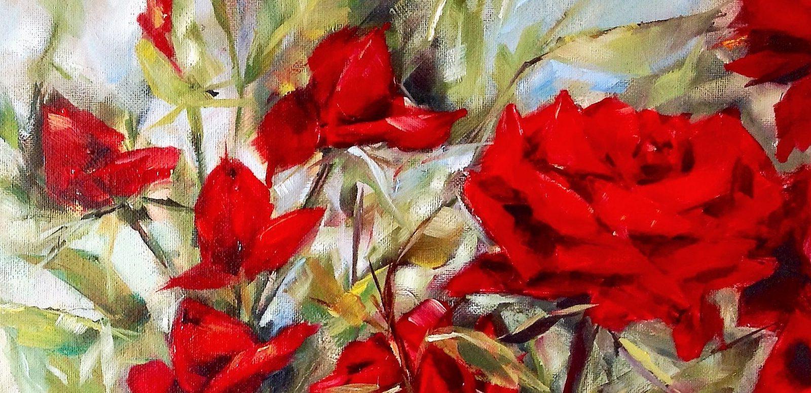 Rozen-schilderen-olieverf-acryl