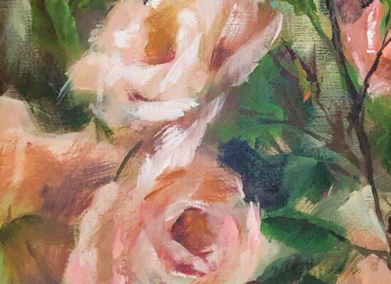 Schilderij-rozen