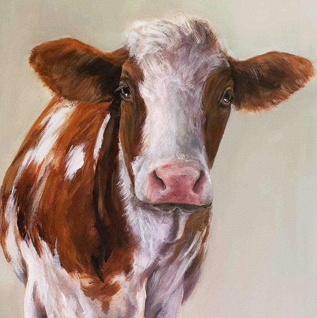 Schilderij-dieren-koe